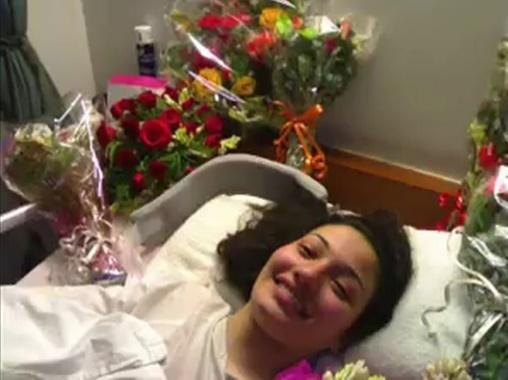 muniba mazari im spitalbett nach den operationen