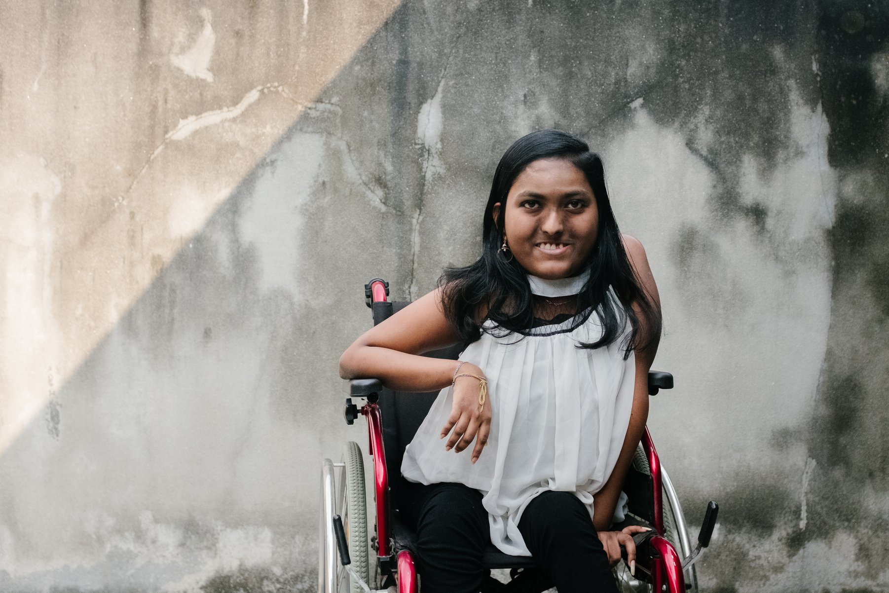 True Complexion -  a lady's first photo in wheelchair