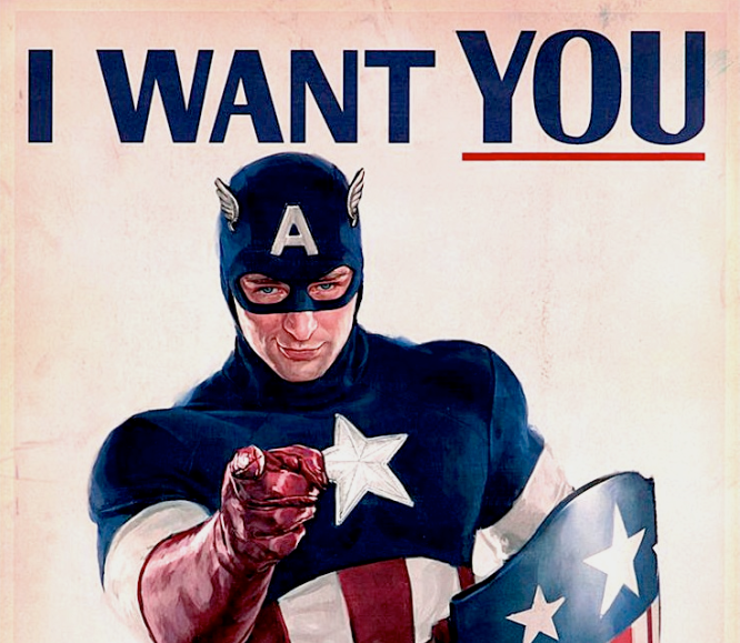 captain america poster i want you